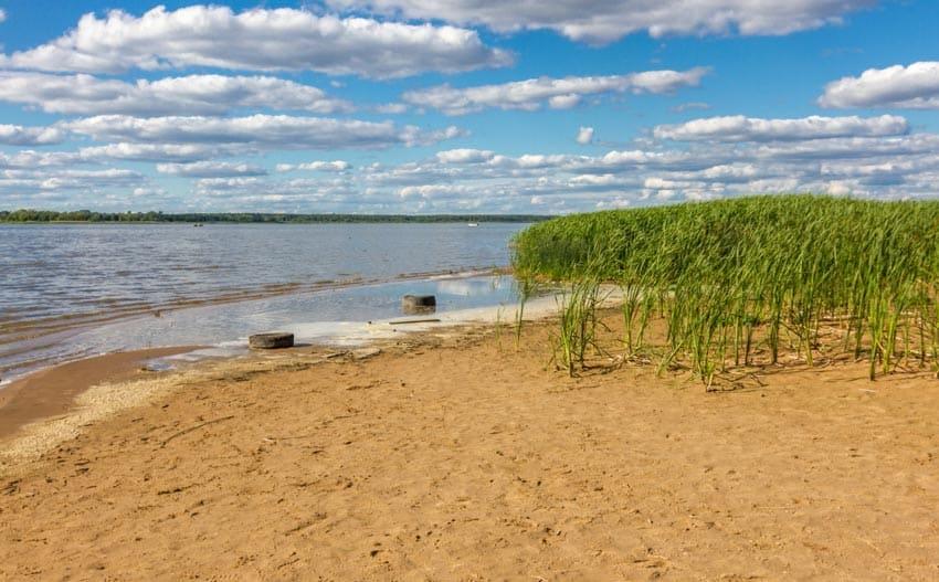 Пляж на Иваньковском водохранилище