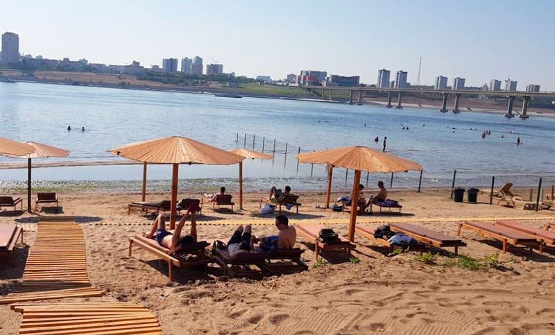оборудованный пляж Бобры