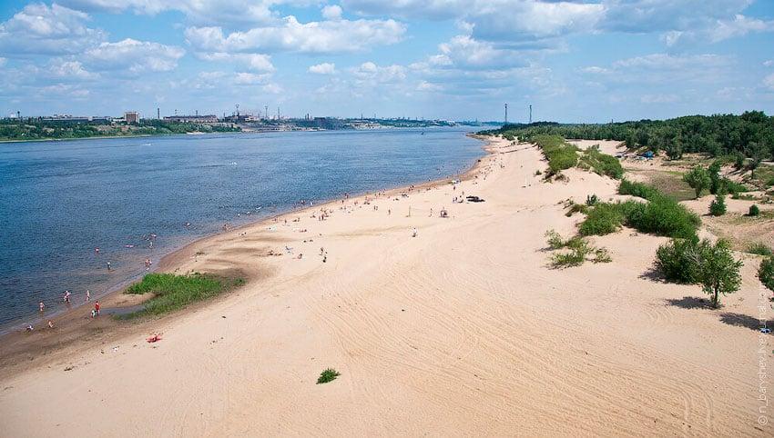 бесплатный пляж Бобры Волгоград