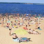 центральный пляж Чебоксары