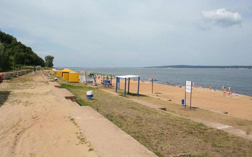 Новосельский пляж в Чебоксарах