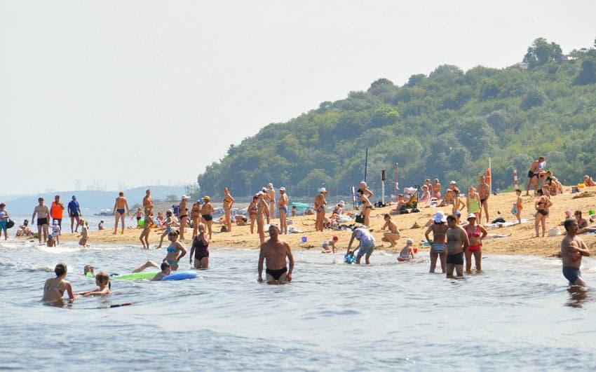 городской пляж Чебоксары
