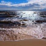 Пляж на Горьковском море