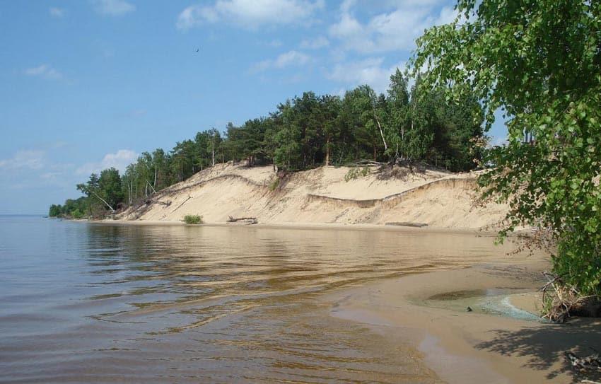 Пляж в Юрьевце на Горьковском море