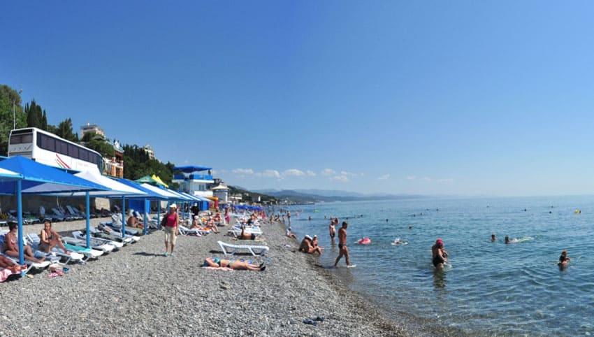 пляж Дубна