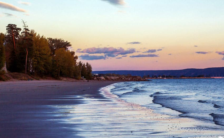 закат на Итальянском пляже Тольятти