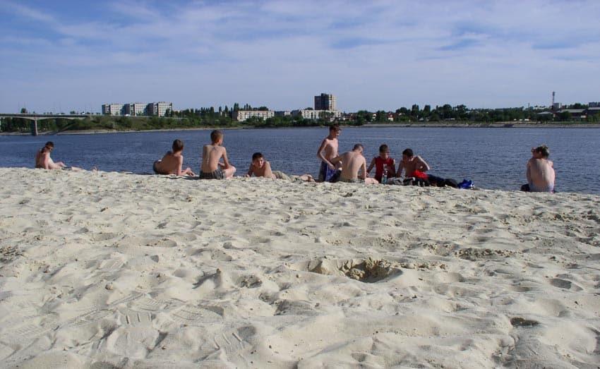 Пляж водноспортивной базы Шарт камышин