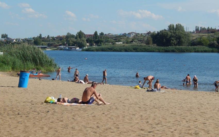 Пляж Гремячий в Камышине