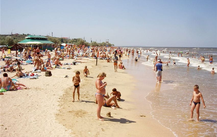 центральный пляж в Камышине