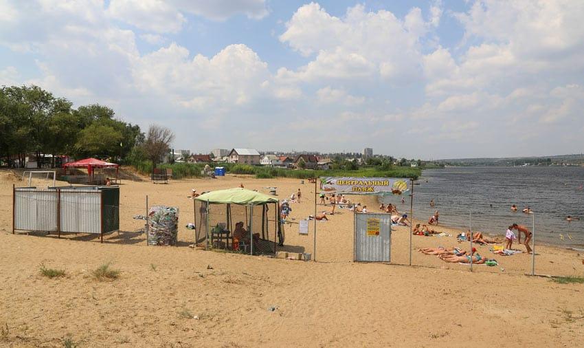 центральный пляж города Камышин