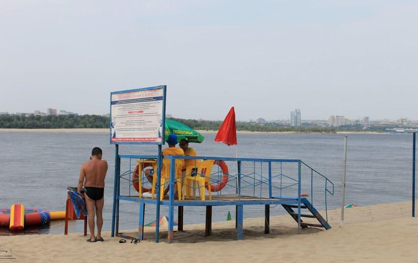 городской пляж Краснослободска
