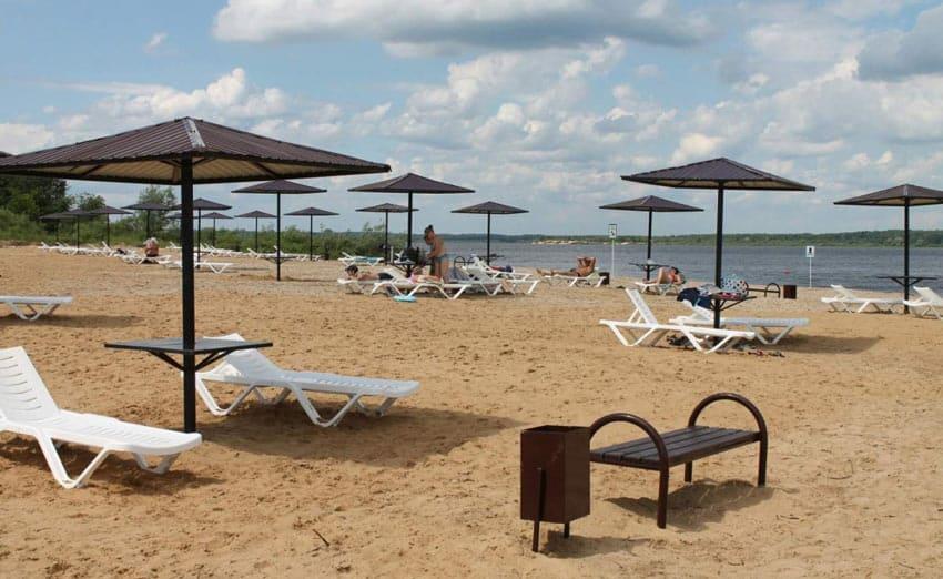 Пляж в Лысково