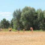 волейбольная площадка пляж Лысково