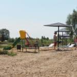 песчаный пляж Лысково