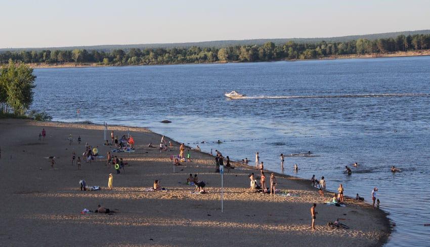Пляжи в Новочебоксарске