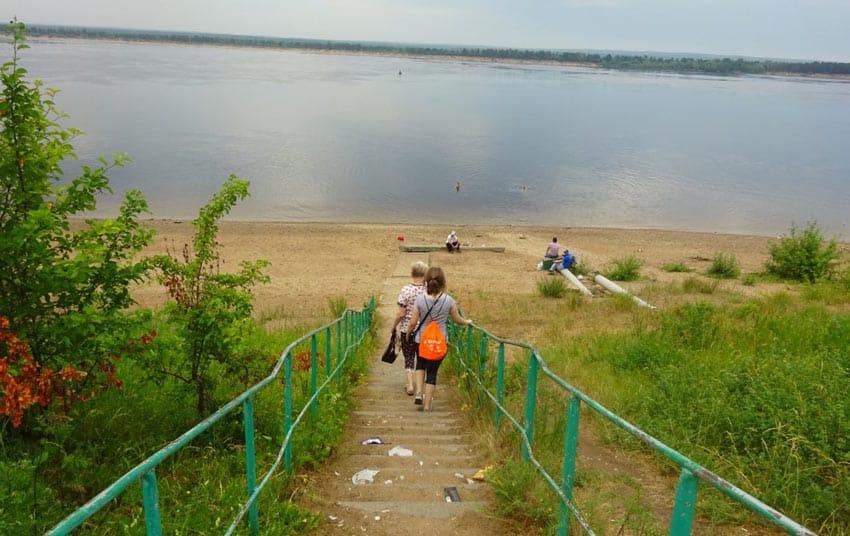 старый пляж в Новочебоксарке