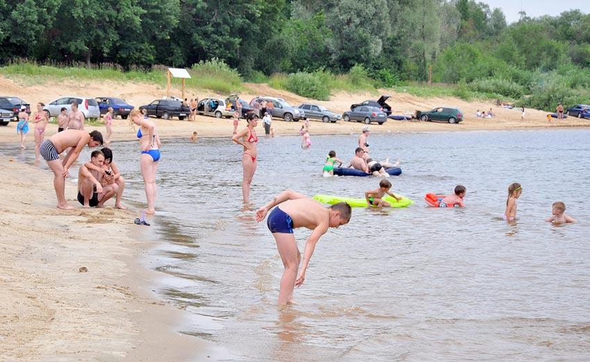 «Старый» неофициальный пляж в Новочебоксарске