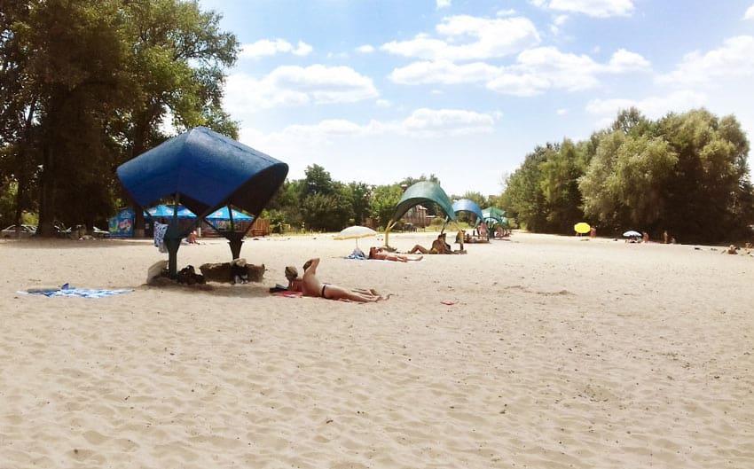 отдых на пляже Нижний в Плесе
