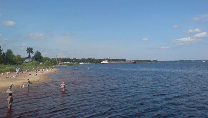 Пляж Переборы Рыбинск