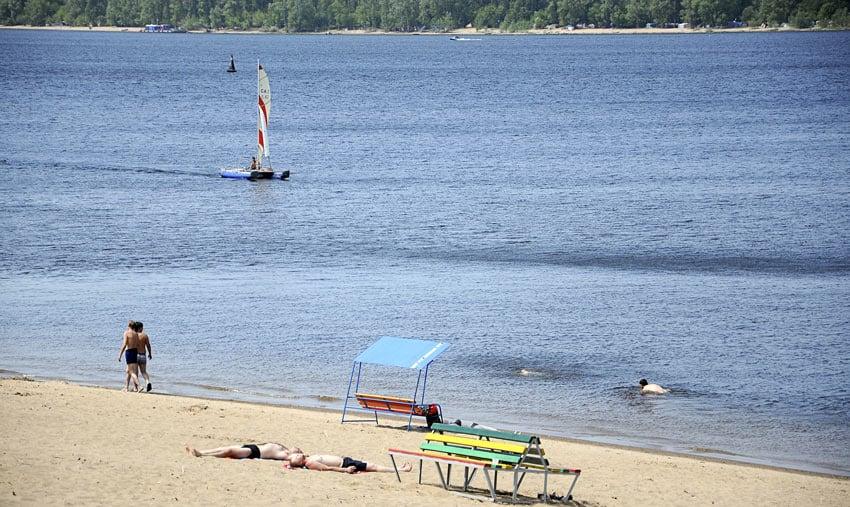 Пляж в Петракова Рыбинск