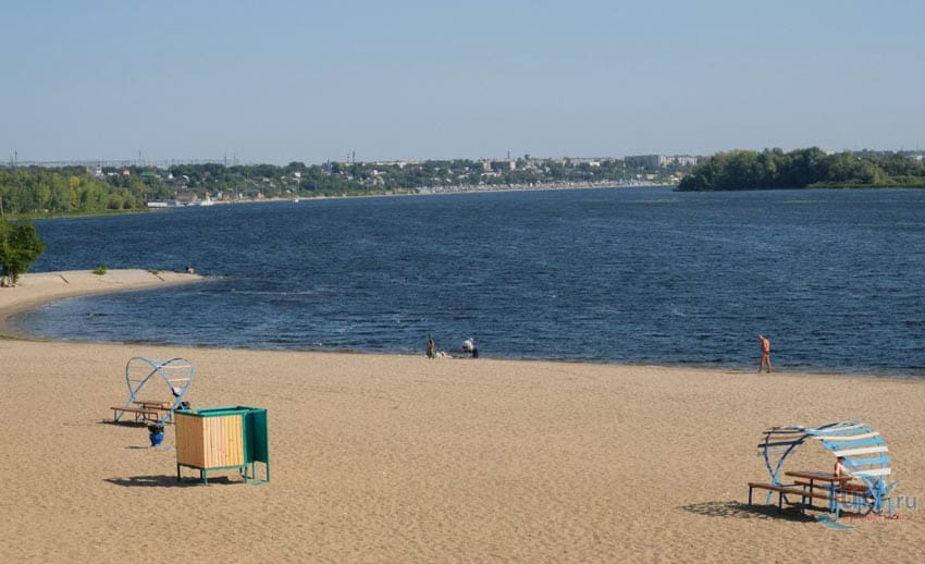 центральный пляж Сызрань