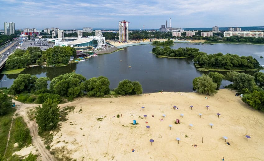 Пляж на Свияге в Ульяновске