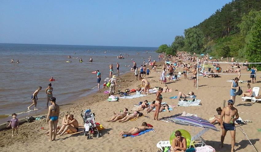 Пляж в парке «40 лет ВЛКСМ» Ульяновск