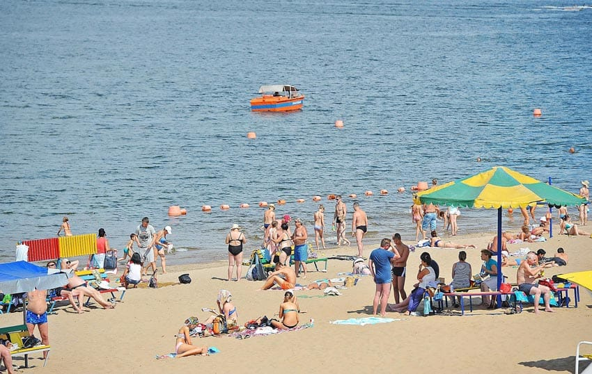Самара пляж на Первомайском спуске