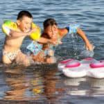 дети на пляже в Самаре