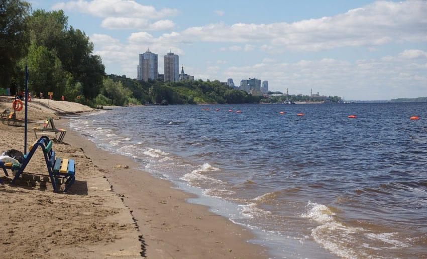 Загородный парк Самара пляж