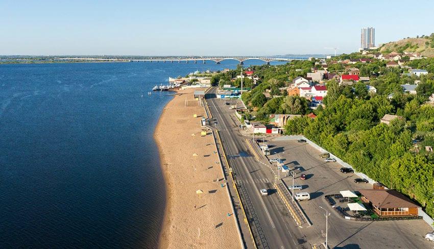 Пляж Затон Саратов