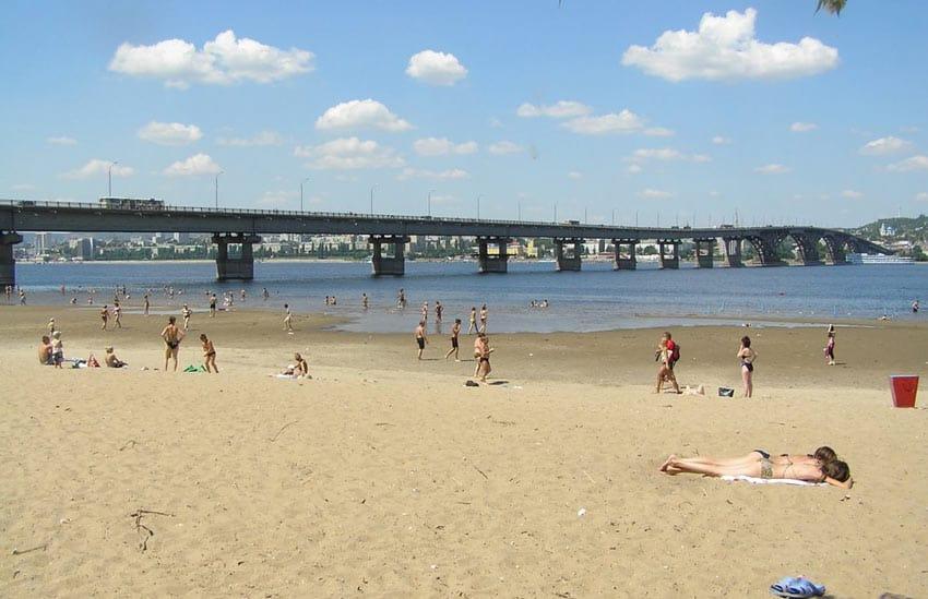 городской пляж Саратова
