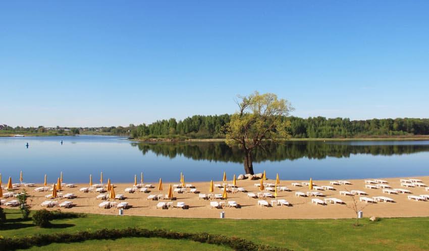 Пляж в Завидово в Тверской области