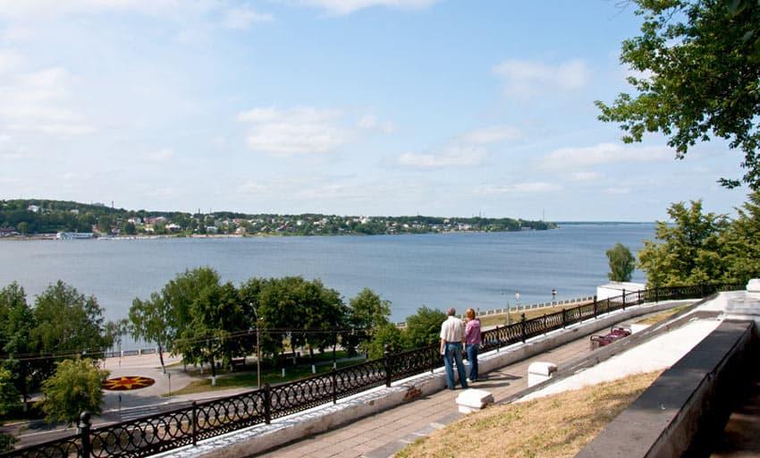 Пляж на Лесной в Костроме