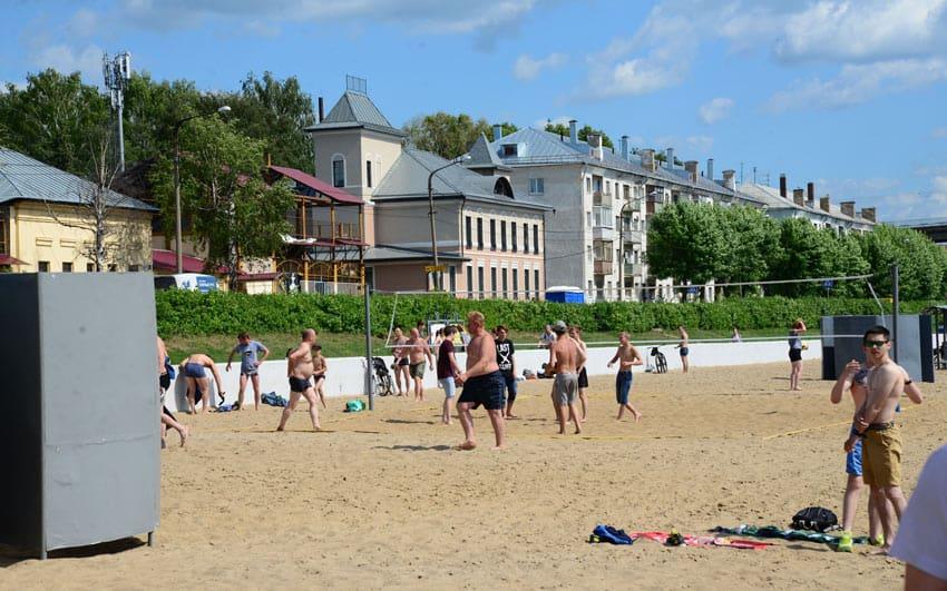 Пляж на Широкой кострома