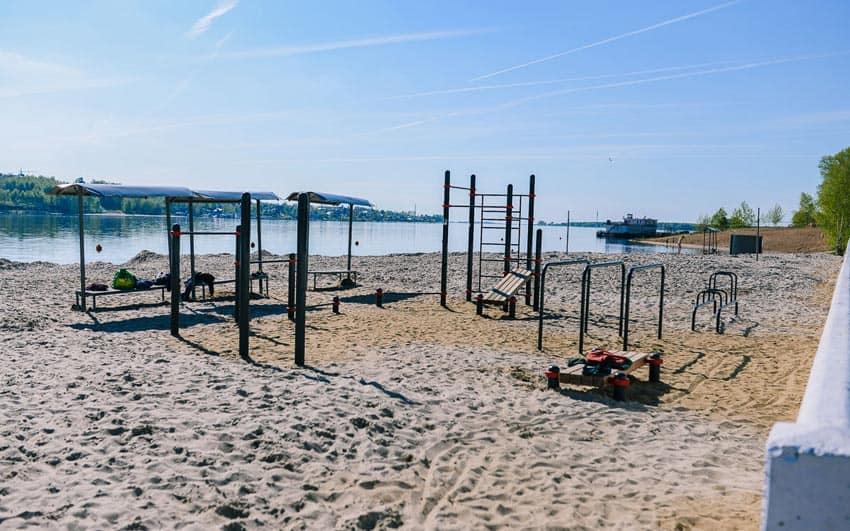 центральный пляж Костромы