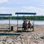 благоустроенй пляж в Костроме