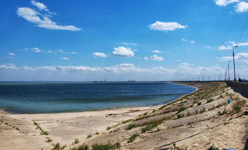 Пляж на Цимлянском водохранилище