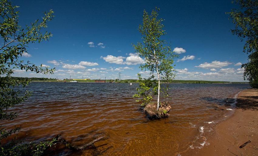 Пляж Горки Клязьминское водохранилище