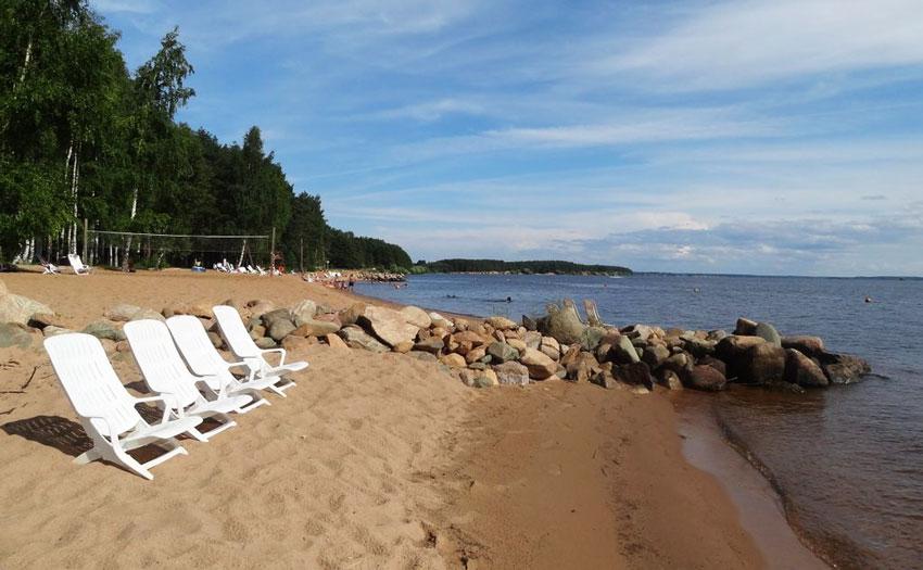 Пляж Рыбинского Водохранилища