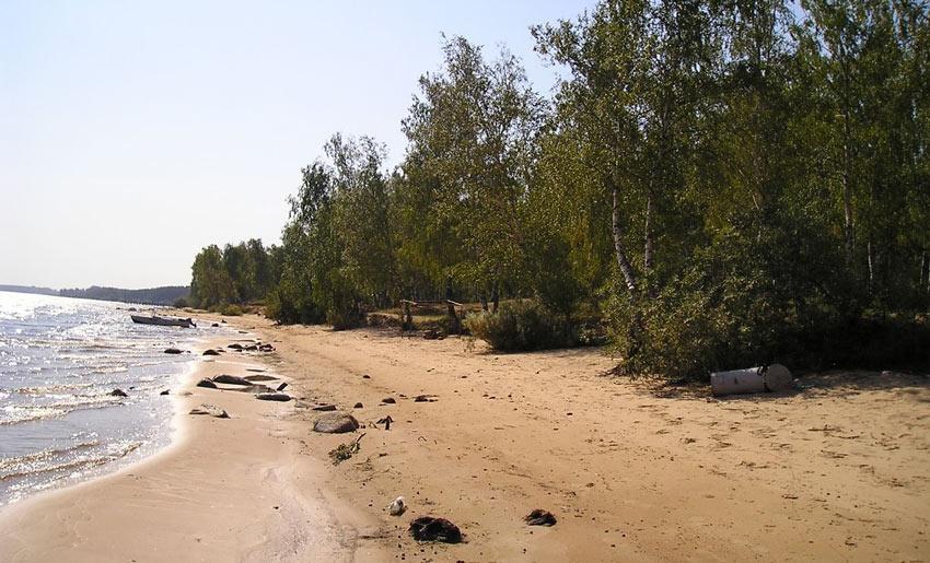 пляж Юршинский остров Рыбинск
