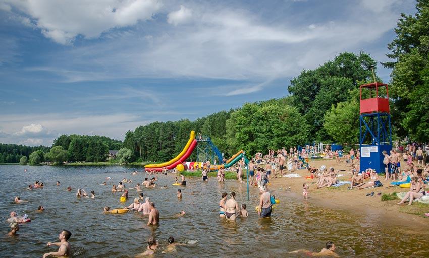пляжи на Пироговском водохранилище