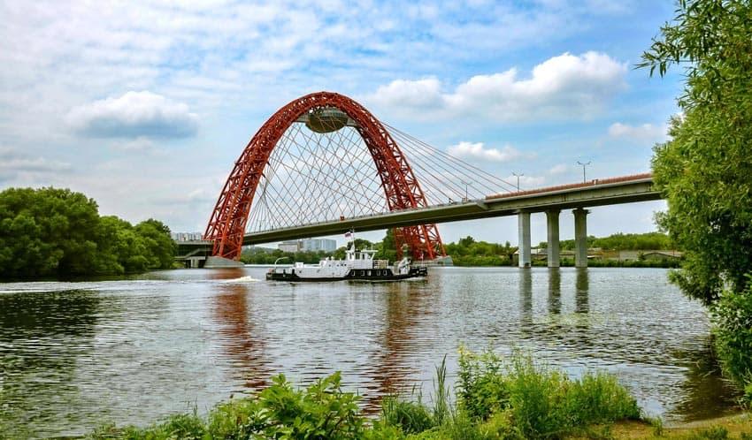 Серебряный бор мост