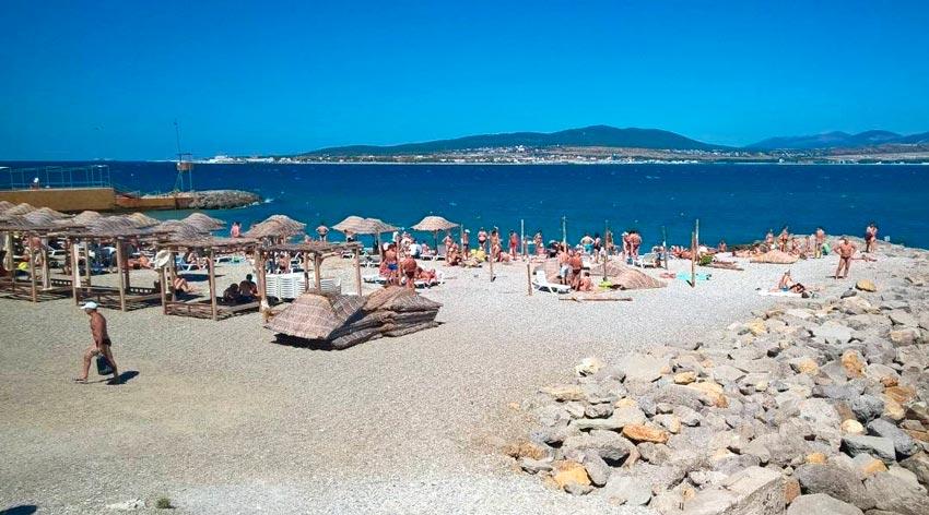 благоустройство пляжа Полярная звезда Геленджик