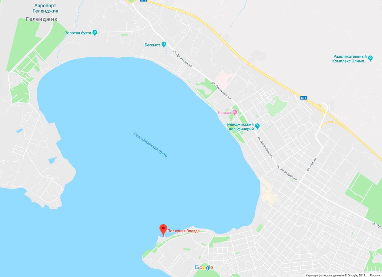 пляж Полярная звезда на карте
