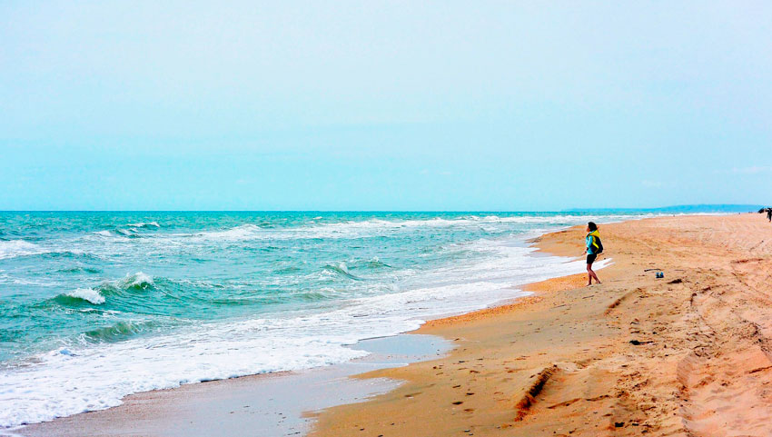 станица Благовещенская дикий пляж