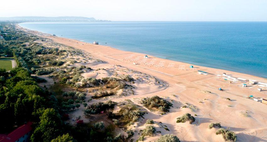 пляж побережье Витязево