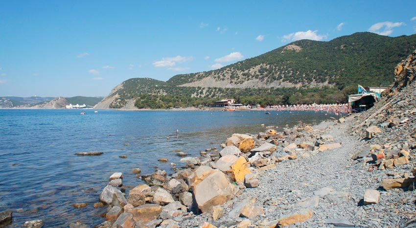 Большой Утриш центральный пляж