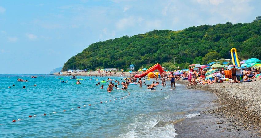 поселок Криница центральный пляж