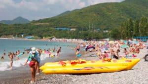 развлечения на пляже поселок Криница